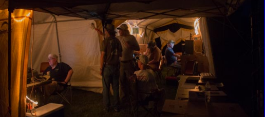 Overnight at Field Day 2017.